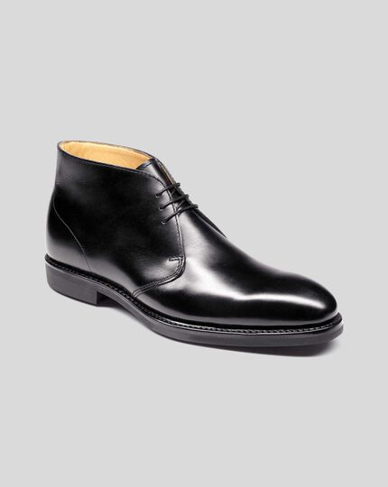 Goodyear Welted Chukka Boots - Black