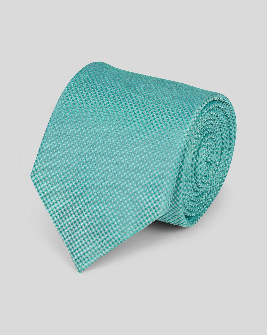 Stain Resistant Silk Textured Tie - Light Green
