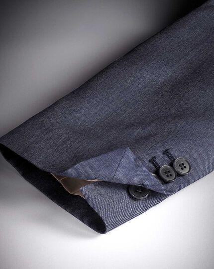 Slim Fit Businessanzug-Sakko aus Twill in Hellblau