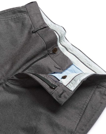 Grey brushed twill stretch pants