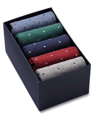 Multi dot sock gift box