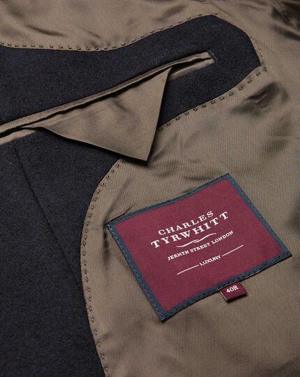 Italian Wool Cashmere Overcoat - Navy