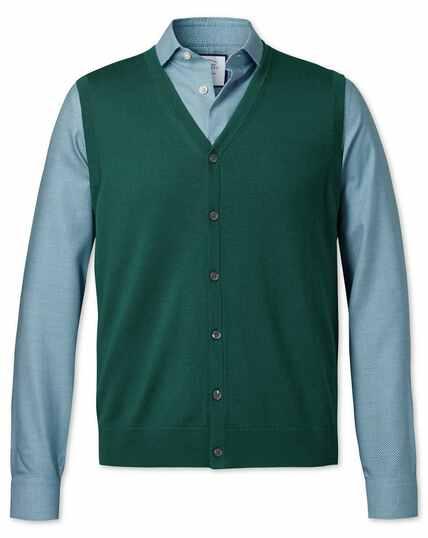 Dark green merino vest