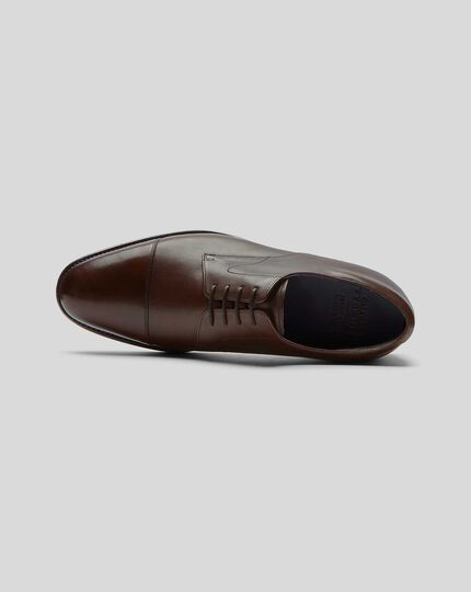 Goodyear Welted Derby Toe Cap Performance Shoes  - Chocolate