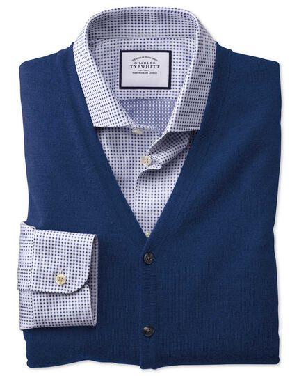 Royal blue merino waistcoat
