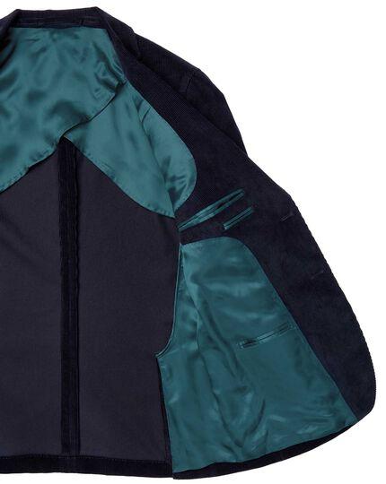 Slim fit blue Italian corduroy jacket