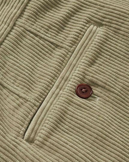Light brown slim fit jumbo cord pants
