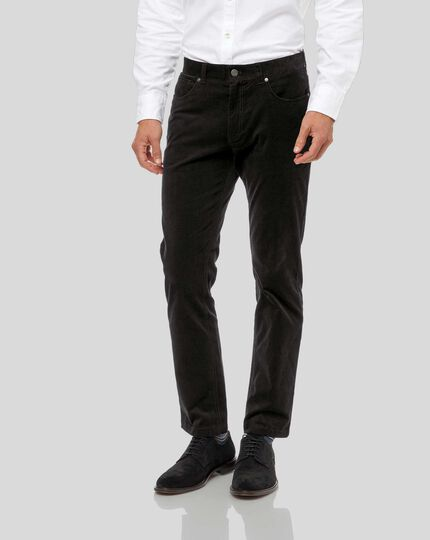 Cord 5-Pocket Pants - Black