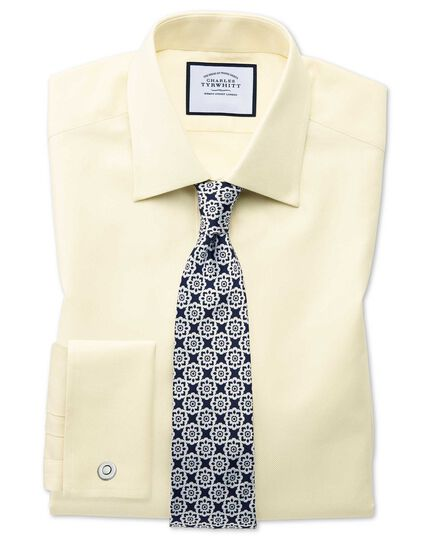 Classic fit Egyptian cotton royal Oxford yellow shirt