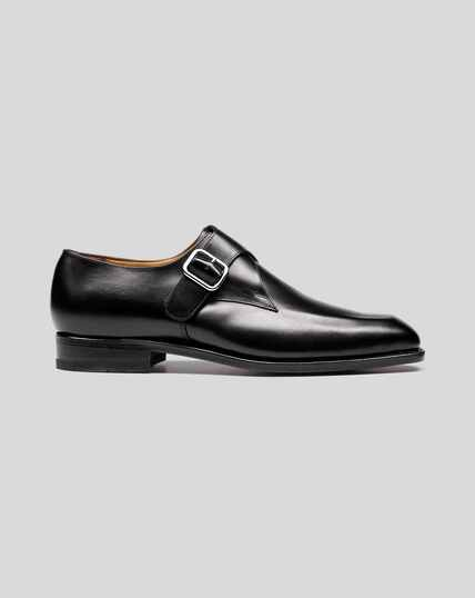 Goodyear Welted Monk Shoe - Black