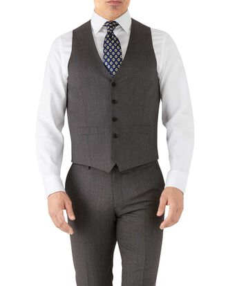 Mocha adjustable fit hairline business suit vest