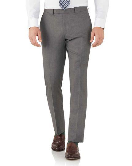Grey slim fit Italian suit trousers