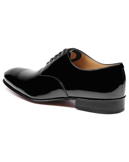 Black patent Oxford shoe