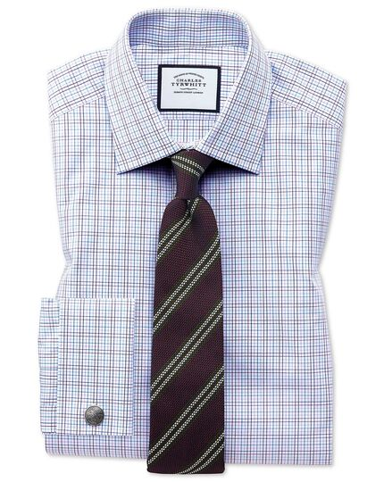 Burgundy silk stripe grenadine Italian luxury tie
