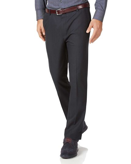 Charcoal slim fit stretch non-iron pants