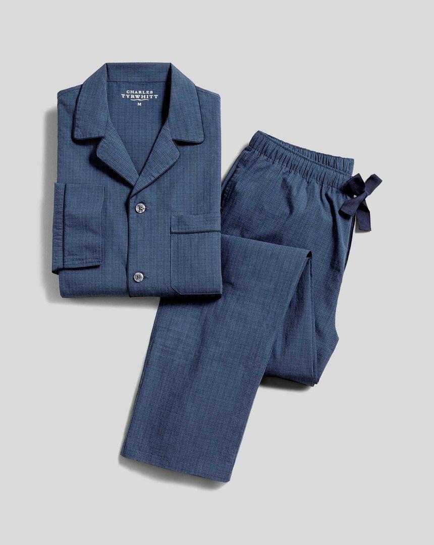 Check Pyjama Set  - Navy