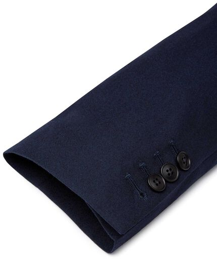 Blue slim fit British luxury suit jacket