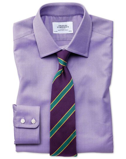 Slim fit Egyptian cotton royal Oxford lilac shirt