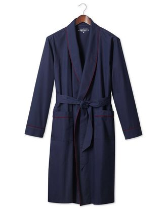 Plain navy lightweight robe