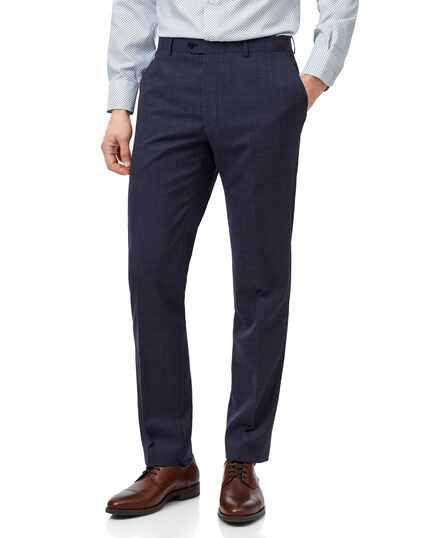 Airforce blue slim fit merino business suit trouser