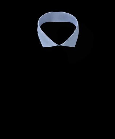 Slim fit cutaway non-iron herringbone sky blue shirt