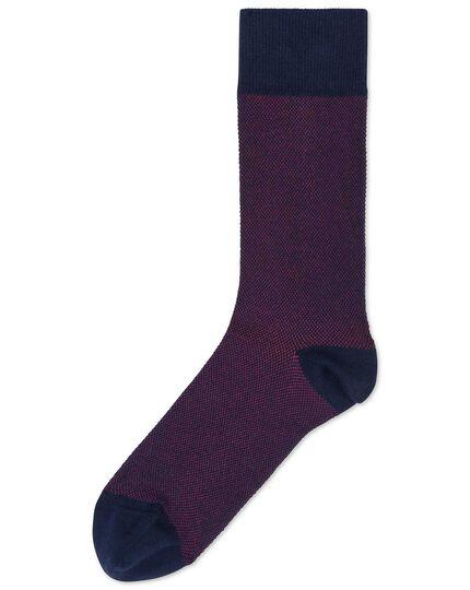 Socken mit Jacquardmuster in Rosa