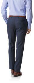 Airforce blue slim fit birdseye travel suit