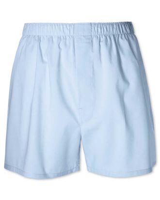 Plain sky blue woven boxers