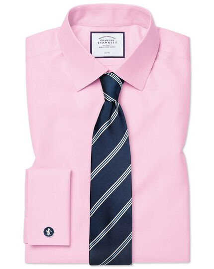 Classic fit pink non-iron twill shirt