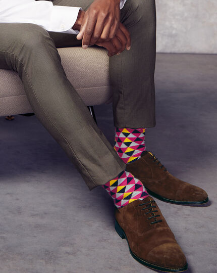 Triangle Socks - Pink & Yellow
