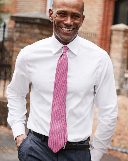Klassische Krawatte aus Seide mit Hufeisen-Print - Pink
