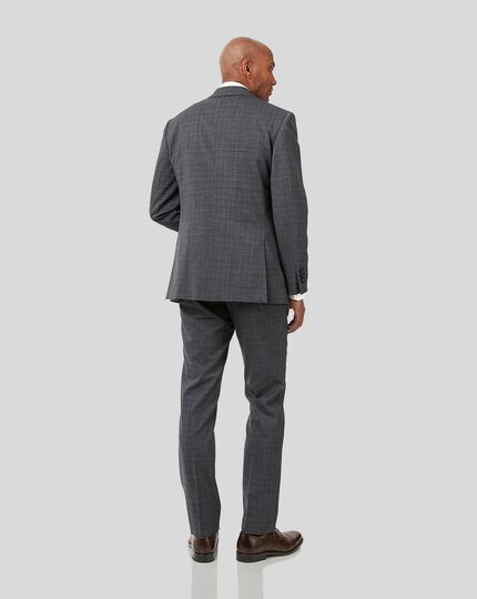 Crosshatch Suit - Grey