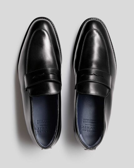 Goodyear Welted Performance Saddle Loafers  - Black