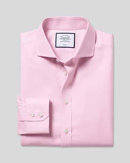 Cutaway Collar Non-Iron Twill Shirt - Pink