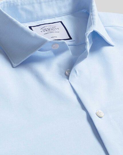 Business Casual Collar Non-Iron Cotton Linen Oxford Shirt - Sky