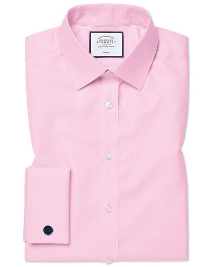 Slim fit pink non-iron twill shirt