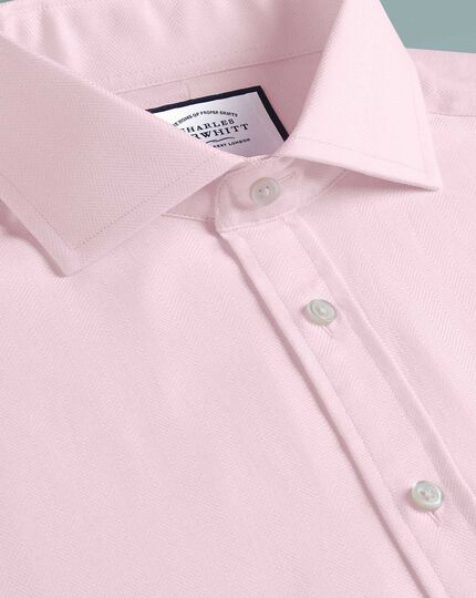 Extra slim fit cutaway collar cotton stretch with TENCEL™ pink shirt