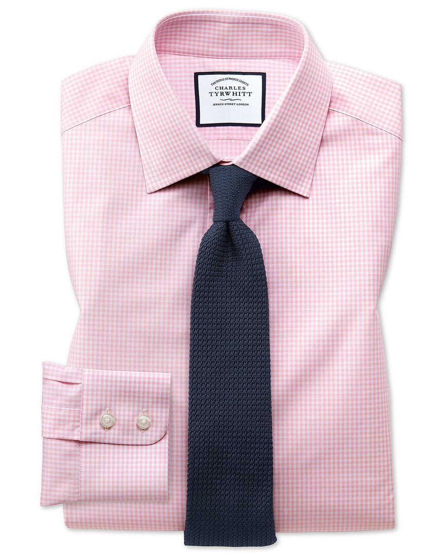 Small Gingham Shirt - Light Pink