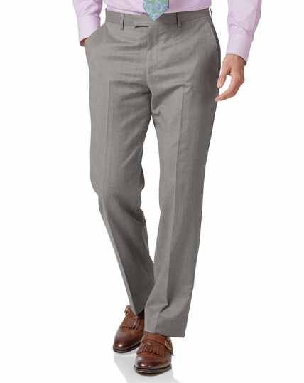 Silver classic fit Italian suit trousers