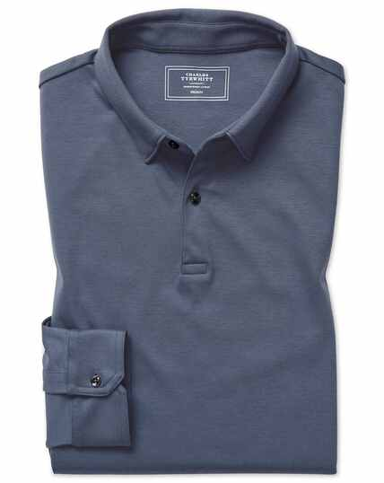 Airforce blue jersey polos