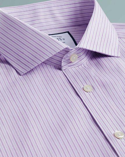Extra slim fit non-iron shadow stripe purple shirt