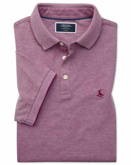 Lapwing Oxford Polo in Beerenrot
