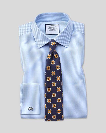 Classic Collar Gingham Shirt - Sky