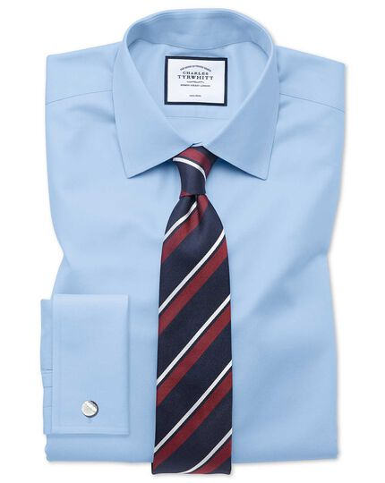 Navy and red stripe silk classic tie