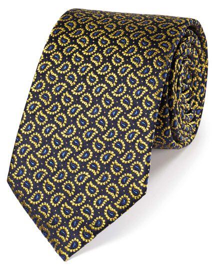 Klassische Krawatte aus Seide mit Paisleymuster in Gold