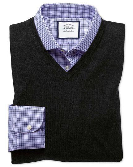 Dark charcoal merino wool tank sweater