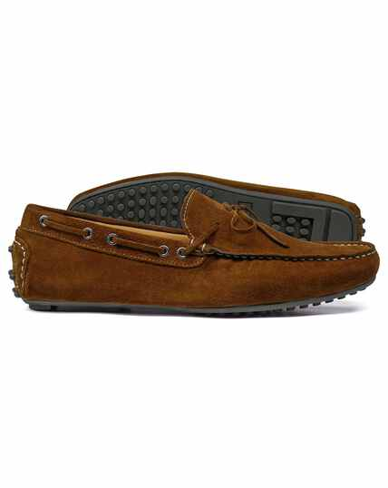Brown driving loafer