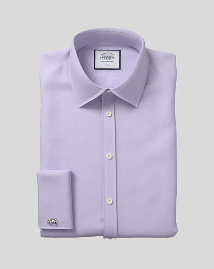 Non-Iron Micro Diamond Shirt - Lilac