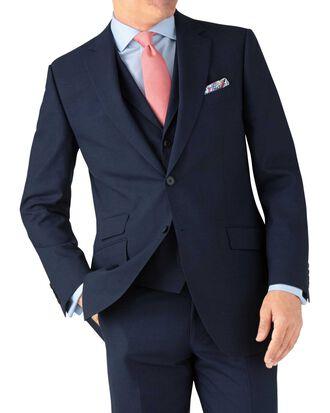 Indigo blue puppytooth classic fit Panama business suit jacket