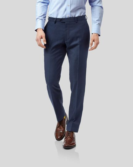 Twill Business Suit Pants - Blue